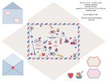 Envelope designer template Royalty Free Stock Image