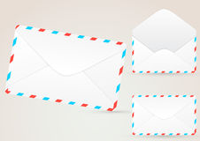 Envelope detailed - realistic illustration Royalty Free Stock Photos