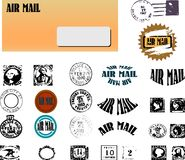 Envelope with different stamps Royalty Free Stock Photography