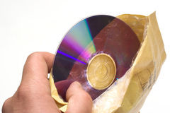 Envelope and disc Royalty Free Stock Photos