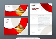 Envelope DL, C5, Letterhead. Corporate business stationery template for envelope and letter. Envelope DL, C5, Letterhead. Corporate business stationery template stock illustration