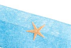Envelope do azul da estrela de mar Imagens de Stock Royalty Free