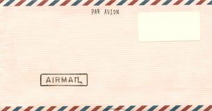 Envelope do correio aéreo do vintage Fotografia de Stock