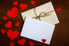 Envelope do dia do `s do Valentim fotografia de stock royalty free