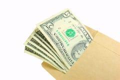 Envelope do dinheiro fotografia de stock