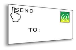 Envelope do email com selo ilustração stock