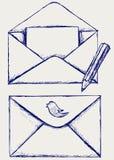 Envelope do esboço Fotografia de Stock
