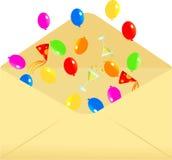 Envelope do partido ilustração royalty free
