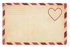 Envelope do Valentim do vintage Fotos de Stock