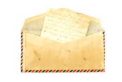 Envelope do vintage Fotografia de Stock Royalty Free