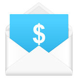 Envelope with dollar symbol Royalty Free Stock Photo