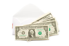 Envelope with dollars Stock Image