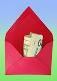 Envelope with dollars. Royalty Free Stock Image