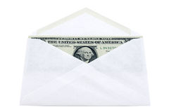 Envelope with dollars Royalty Free Stock Image