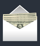 Envelope dollars vector II Stock Photography