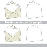 Envelope. Drawing worksheet. Stock Photo