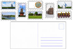 Envelope with dutch stamps. Envelope with stamps showing dutch topics Royalty Free Stock Photos