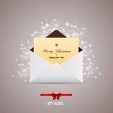 Envelope e cumprimento Imagens de Stock Royalty Free