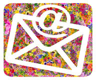 Envelope and e-mail  floral symbol Royalty Free Stock Photos