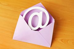 Envelope with e-mail sign Royalty Free Stock Images