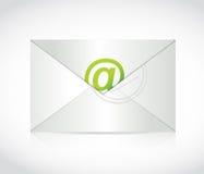 Envelope e no projeto da ilustração do símbolo Fotografia de Stock Royalty Free