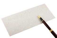 Envelope e pena Imagem de Stock Royalty Free