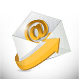 Envelope email. contact us illustration Royalty Free Stock Photography