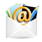 Envelope with email sign Royalty Free Stock Photos