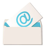Envelope with email symbol Royalty Free Stock Image