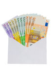 Envelope with euro Royalty Free Stock Images