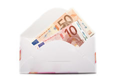 Envelope with euro Stock Photo