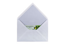 Envelope with eurobanknote Royalty Free Stock Image