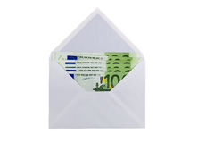 Envelope with eurobanknotes Royalty Free Stock Photography