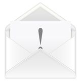 Envelope exclamation mark Stock Photography