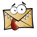 Envelope with eyes and mouth vector illustration