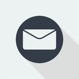 Envelope flat design, email design, mail design icon. For your Business Royalty Free Stock Photo