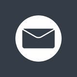 envelope flat design, email design, mail design icon Royalty Free Stock Photography