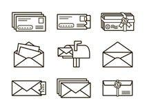 Envelope flat icon Royalty Free Stock Photo