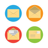 Envelope flat icon Stock Photography