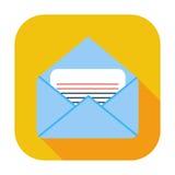 Envelope flat icon. Stock Photos