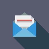 Envelope flat icon. Royalty Free Stock Photos