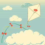 Envelope flies Royalty Free Stock Image