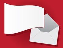 Envelope Floating Letter. Letter flying out of floating envelope vector illustration