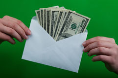 Envelope full of money Royalty Free Stock Photography