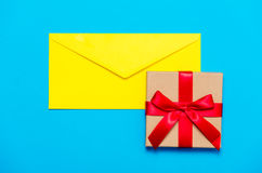 Envelope and gift Stock Photos