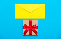 Envelope and gift Royalty Free Stock Photography