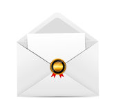 Envelope with Golden Stamp Vector Illustration. This is file of EPS10 format Stock Photography