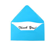 Envelope with gratitude Stock Image