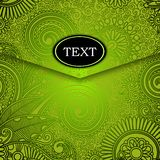Envelope with green pattern Royalty Free Stock Photo