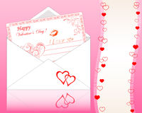 Envelope with Greeting card. Stock Photo